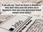 If Job Ads Say...