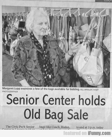 Senior Center Holds