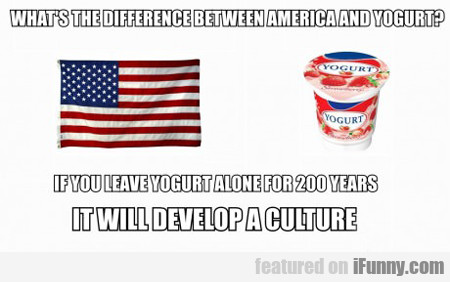 What's The Difference Between America And Yogurt?