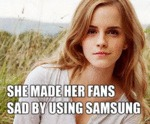 She Made Her Fans Sad By Using Samsung...