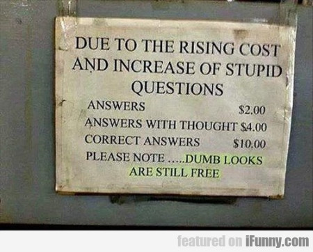 Due To The Rising Cost