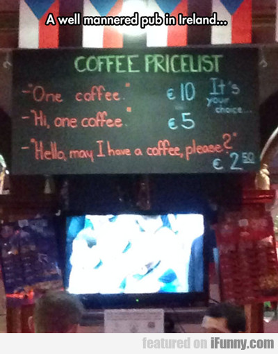 A Well Mannered Pub In Ireland...