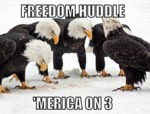 Freedom Huddle, 'merica On Three...