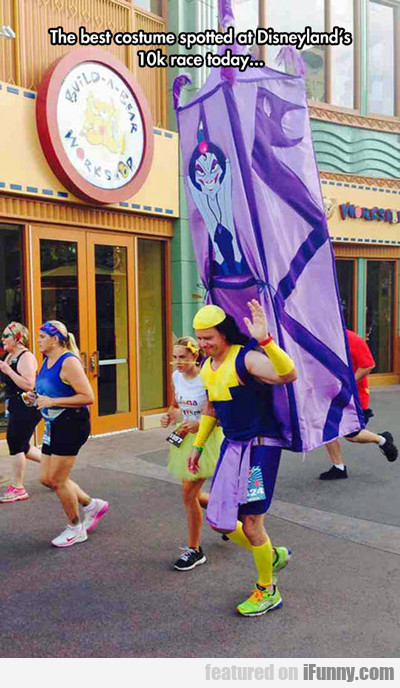 the best costume spotted at disneyland's 10k...