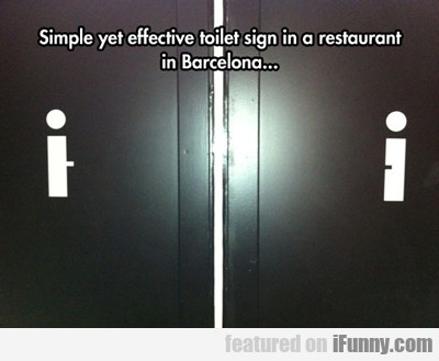 Simple Yet Effective Toilet Sign...