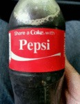 Share A Coke With Pepsi...