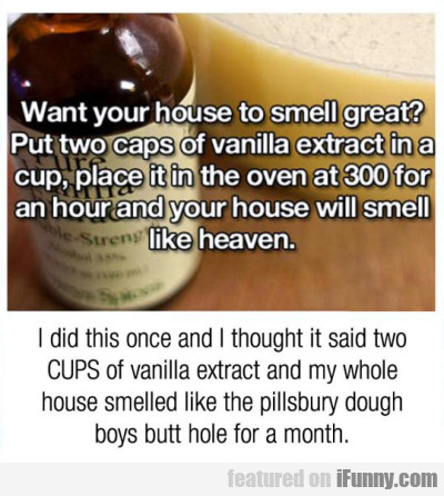 Want Your House To Smell Great - Put Two Caps...