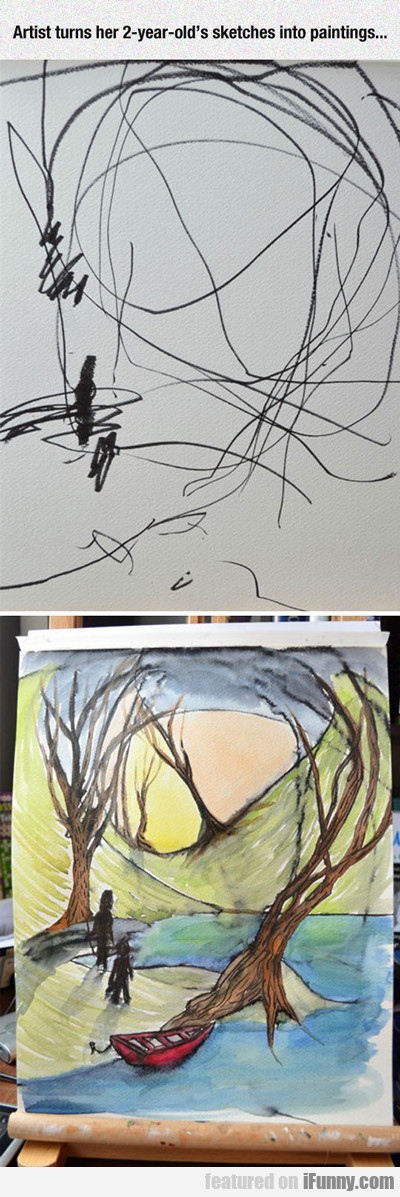 Artist Turns Her 2 Year Old's Sketches...