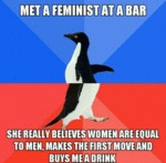 Met A Feminist At A Bar...