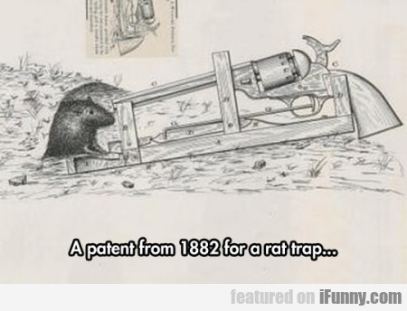 A Patent From 1882 For A Rat Trap