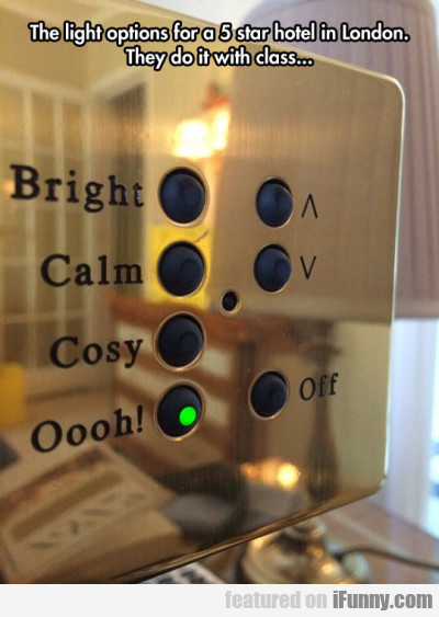 The light options for a 5 star hotel in London...