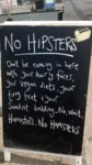 No Hipsters...