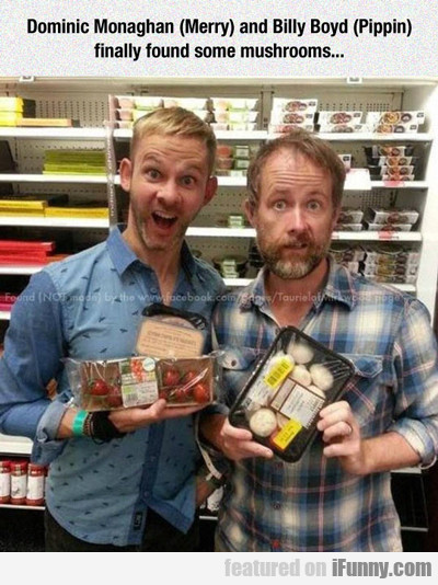 Dominic Monaghan And Billy Boyd...