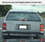 That Car Has One Of The Biggest Spoiler I Have...