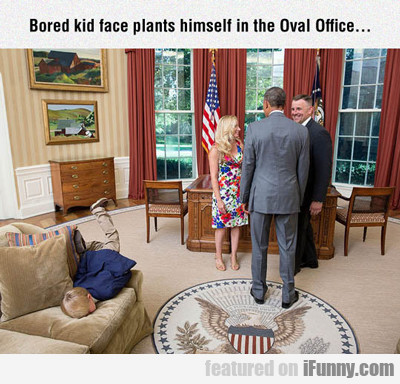 Bored Kid Face Plants...