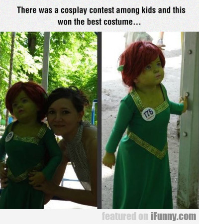 There was a cosplay contest among kids and...