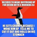Decided To Wake Boyfriend Up...