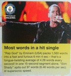 Most Words In A Hit Single...