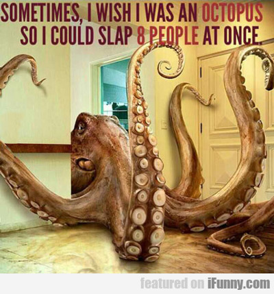 Sometimes I Wish I Was An Octopus...