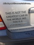A Friend Spotted This On A Car...