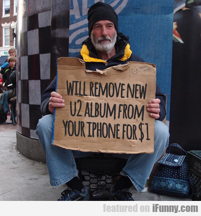 Will Remove New U2 Album...