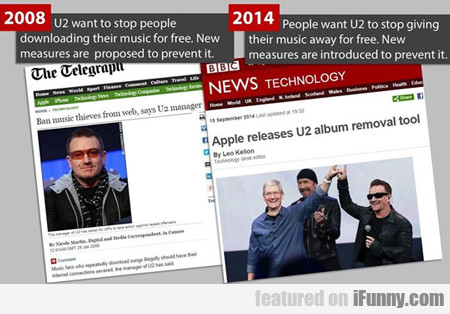 U2 Wants To Stop People From Downloading...