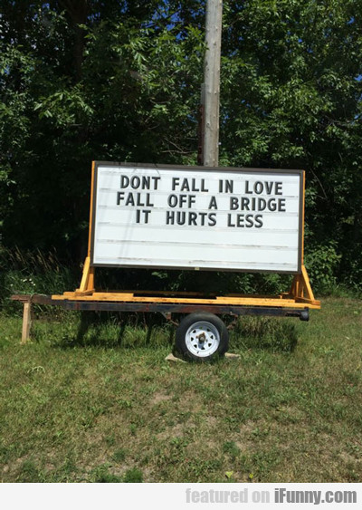 Don't Fall In Love...
