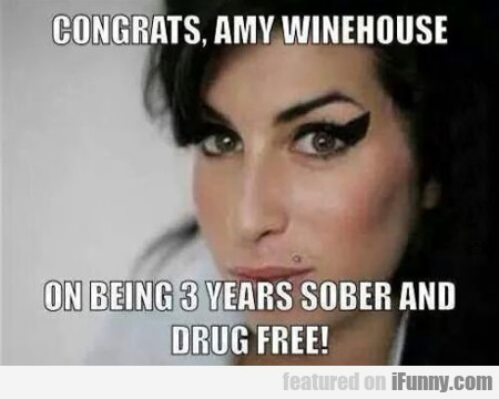 Congrats, Amy Winehouse...