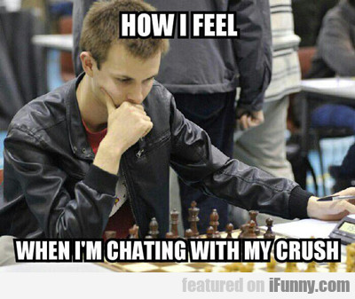How I Feel When I'm Chatting With My Crush...