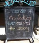 I Wonder If Mrs. Jackson...