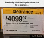 I Can Finally Afford The Bridge...