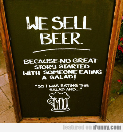 We Sell Beer...