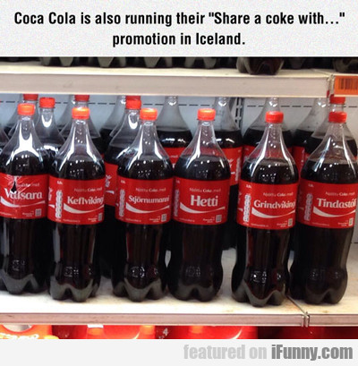 coca cola is also running their...