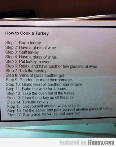 how to cook a turkey...