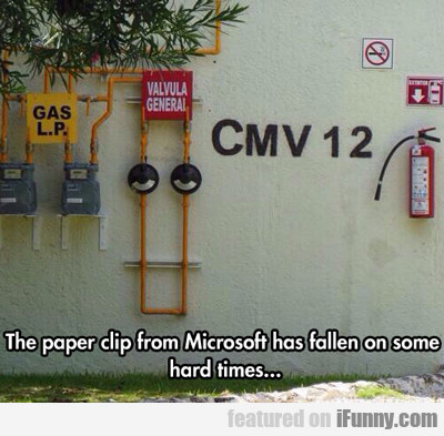 The Paper Clip From Microsoft Word...