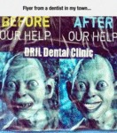 Flyer From A Dentist In My Town...