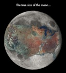 The True Size Of The Moon...