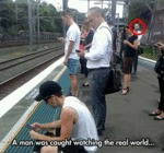 A Man Was Caught Watching The Real World...