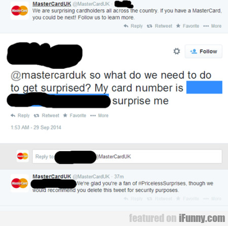 Mastercarduk So What Do We Need