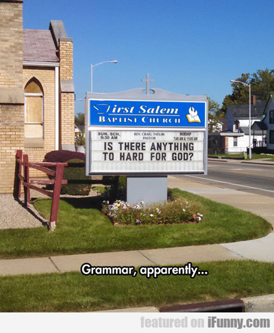 Grammar Apparently...