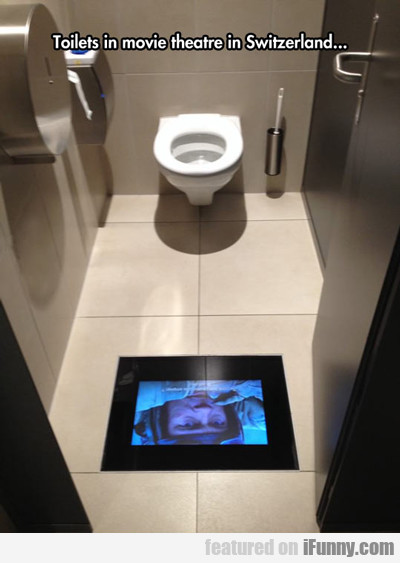 Toilets In Movie Theatre In Switzerland...
