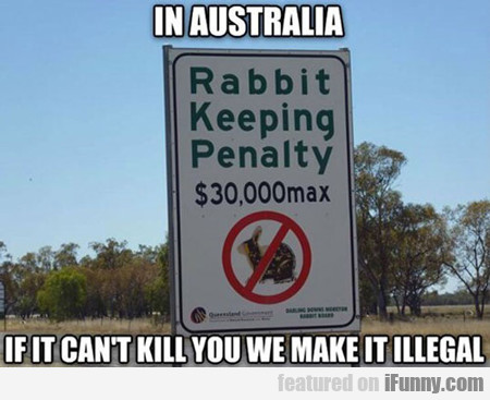 In Australia If It Can't Kill You...