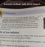 Economics Text Book Really Did Its Research...