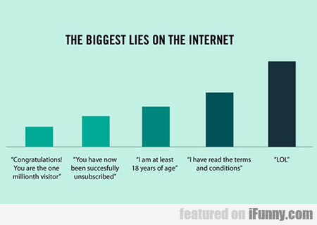 The Biggest Lies On The Internet...