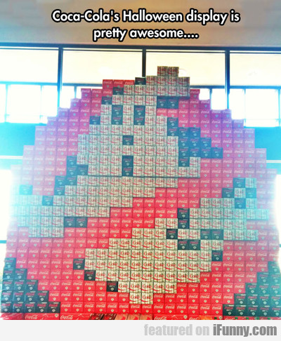 Coca Cola's Halloween Display...