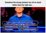 Somehow The Wrong Answers Are All...