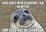 Girl Goes Into Elevator...
