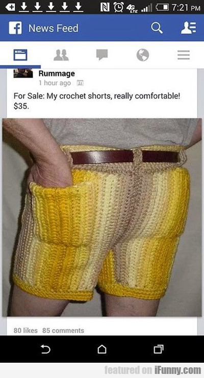 For Sale: My Crochet Shorts