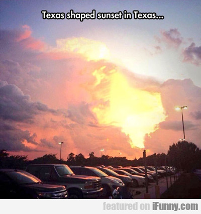 Texas Shaped Sunset In Texas...