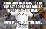 A Bat And A Ball Cost $1.10...